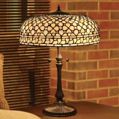 Mille Feux Large Table Lamp (Traditional, Large Table lamp) TO21 light (Tiffany style)